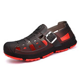 Men Comfy Hollow Outs Beach Sandals Rainy Days Shoes