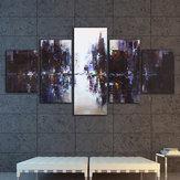 5PcsAbstraitModerneVilleToile Imprimer Peintures Image Maison Mur Décor Sans Cadre