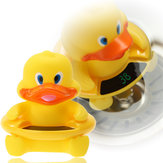 2 in 1 Infant Baby Bath Water Thermometer Cartoon Animal Duck Baby Tub Toy Temperature Tester Kid Bath Supplies