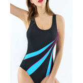 Back Hollow Elasticity Wireless Padded Durable Swimsuit