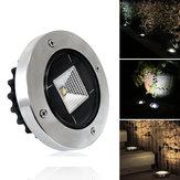 Original Solar Powered White Warm White Impermeable IP65 Buried Light Lawn Lámpara para al aire libre Yarda