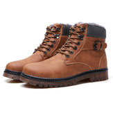 Big Size Men Warm Leather Boots