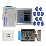 RFID Door Access Control System Kit Set with Electric Control Door Lock Keypad Keyfobs Unlock Button