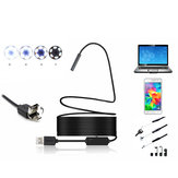 2 en 1 5mm 6LED IP67 Micro USB / USB Endoscope Borescope Inspection Camera Soft Câble pour Android PC