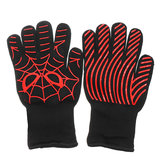 A Pair Extreme Heat Resistant BBQ Oven Work Gloves 500°C Pot Holder Cooking Mitts
