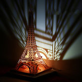 Christmas 2017 Honana HT-907 LED Light Model DIY Eiffel Tower Greeting Card Christmas Brithday Gift Festival Blessing Card