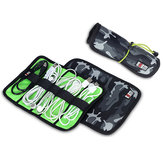 BUBM Roll-up Electronics Organizer Electronics Accessories Storage Bag Travel Carry Case