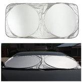 190x90cm Nylon Pare-soleil pliable de lunette avant Visière Couverture de bloc de protection de vent pour camion de voiture