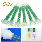 50pcs f6-16 ab tubo della colla di miscelazione verde sezione bocca statico 16 ugelli