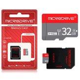 MicroDrive 16GB 32GB 64GB Clase 10 Tarjeta de memoria TF de alta velocidad con adaptador de tarjeta para teléfono móvil