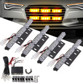 LED Car Grille Strobe Light Mini Politie Emergency Warning Signal Flash Lamp 18W 12V Amber 4PCS