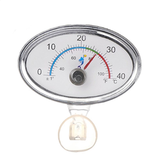 0-40 (°C) Elliptical Point'er Thermometer High-precision Aquarium Thermometer Real-time Display Easy-to-read Thermometer