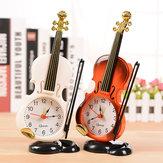 HonanavendimiaUniqueSmallExpertMini Violin Alarm Reloj Oficina Decoración para el hogar artesanal