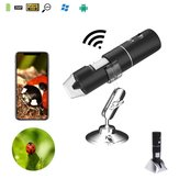 2MP Full HD 1080P Handheld WIFI Digital 1000x Microscope Magnifier Camera for iPhone ios Android iPad Built-in Rechargeable Lithium battery With 8 LED lights