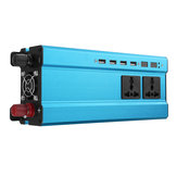 5000W 12V/24V DC to 110V/220V AC Solar Power Inverter LED Modified Sine Wave Converter Blue