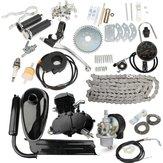 Actualizado80ccJuegodemotor2 ciclos de gasolina motorizada Motor con velocímetro negro
