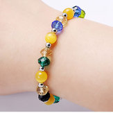Original Trendy Colorful Glaze Opal Bead pulsera ajustable para niña
