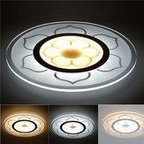 15W Modern Round Flower Acrylic LED Ceiling Lights Warm White/White Lamp for Living Room AC220V
