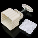 Original Square 125g Moonake Baking Mooncake Pastry Mold Biscuit Cake Hand Press Mould Flower Cooking DIY