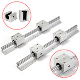 2pcs SBR12-300mm Supported Rails With 4pcs SBR12UU Pillow Bearing Blocks