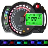 12V 15000RPM Motorcycle Speedometer Odometer Adjustable Waterproof LCD Digital