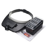 1.2X 1.8X 2.5X 3.5X Plastic Acrylic Lens Head Mount Headset LED Light 4pcs Magnification Glasses