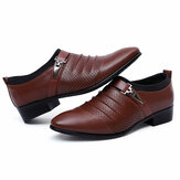 Men Breathable Hollow Outs Leather Formal Business Shoes