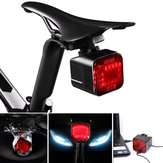 WILD MAN Multifunctional Bike Sound Bluetooth Taillight USB Rechargeable Waterproof Play Music Stereo Volume Control Function Lampshade