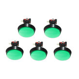 Original 5Pcs Verde luz LED 60 mm Arcade Video Game Player Interruptor de botón