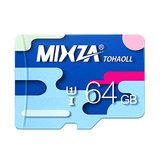 MIXZA Tarjeta de Memoria Colorida 64GB Tarjeta Micro SD de Clase10 para Smartphone Cámara MP3