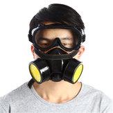 Doble Filtro Protección de Gas Máscara Filtro Respirador Máscara Química para la Protección de Autoayuda de Fuego