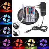 5M SMD3528 No impermeable RGB 300 LED Strip Light + IR Controller + 44Keys Control remoto Control + EU US Enchufe