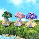 Mini Resin Flower Tree DIY Moss Micro Landscape Decoration Garden Flower Pot Plant Decor