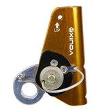 Original XINDA XDQ9672 Aluminum 22KN 8mm-12mm Climbing Rope Grab Descender Protecta Climb Pulley Climbing Ascender