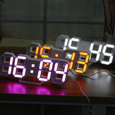 Large Modern Digital Led Skeleton Wall Clock Timer 24/12 Hour Display 3D Gife