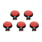 Original 5Pcs Red LED Light 60mm Arcade Video Game Player Push Button Switch