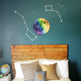 30cm Colorful Large Moon Wall Sticker Removable Glow In The Dark Luminous Stickers Home Decor