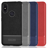 Bakeey™ Litchi Pattern Shockproof Soft TPU Back Cover Protective Case for Xiaomi Redmi Note 6 Pro