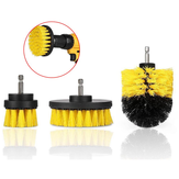 Drillpro 3Pcs 2/3.5/4 Inch Yellow Electric Drill Brush Tile Grout Power Scrubber Tub Cleaning Brush