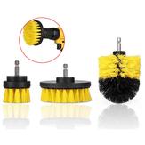 Drillpro 3Pcs 2 / 3.5 / 4 Pollici Trapano elettrico giallo Pennello Tile Grout Power Scrubber Tub Cleaning Pennello