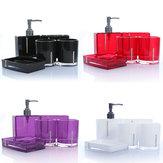 5pcs Bathroom Accessories Acrylic Toothbrush Holder Loton Dispenser Soap Dish Set