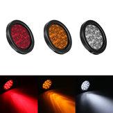 13.5 cm 4W LED Luces de cola redondas Gire el tope del lado del freno Lámpara para remolque de camión ATV rojo / ámbar / blanco