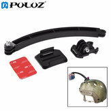 PULUZ Outdoor Motorcycle Cycling Helmet Extension Arm Mount Set for Gopro SJCAM Xiaomi Yi