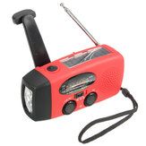 Emergencia Solar Manivela Wind Up 3 LED Linterna Torch AM FM Radio Cargador