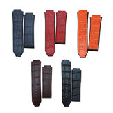 Original Replacement 25mm Rubber Leather Watch Band Strap For Hublot Big Bang