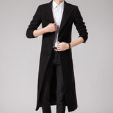 Trench Slim Fit Homme Long Style Manteau En Laine Costume Col