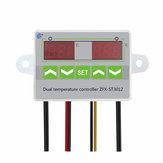 AC 110V-220V 12V 24V Digital LED Dual Thermometer Temperature Controller Thermostat Incubator