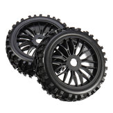 2PCS 17mm Tyre Tires Wheel for 1/8 RC Car Off Road Monster Truck Vehicle Parts