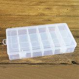 Original Joyería de plástico Caja Organizador Contenedor de almacenamiento DIY Manualidades Piezas Compartimento Divisor Claro Ranura Caja