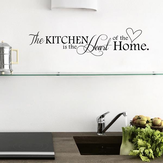 Kitchen Letters Love Wall Sticker Living Room Home Decoration Creative Decal DIY Mural Wall Art